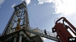 Một giàn khoan dầu ở Cuba
