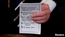 Preguntas preparadas para el presidente.