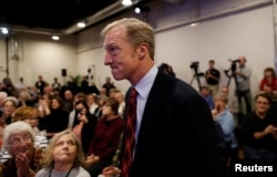 """Tom Steyer, who founded the """"Need to Impeach"""" campaign advocating for President Donald Trump's removal from office, appears at a town hall in Charleston, S.C., Dec. 4, 2018."""