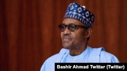 Le président nigérian Muhammadu Buhari