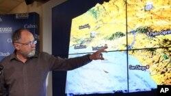 Pakar seismologi dari California Institute of Technology, Egill Hauksson menerangkan terjadinya gempa di California 17 Maret 2014 lalu (foto: dok).