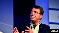 美国国防部副部长卡特7月18日在科罗拉多州阿斯彭举行的阿斯彭安全论坛上