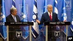 آقای نتانیاهو در اورشلیم میزبان آنتونیو گوترس دبیر کل سازمان ملل بود.