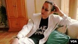 Alina Fernández, la hija de Fidel Castro, vive como exiliada en Miami, Florida.