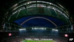 Une vue générale du Stade de Wembley, Londres, le 25 octobre 2009.