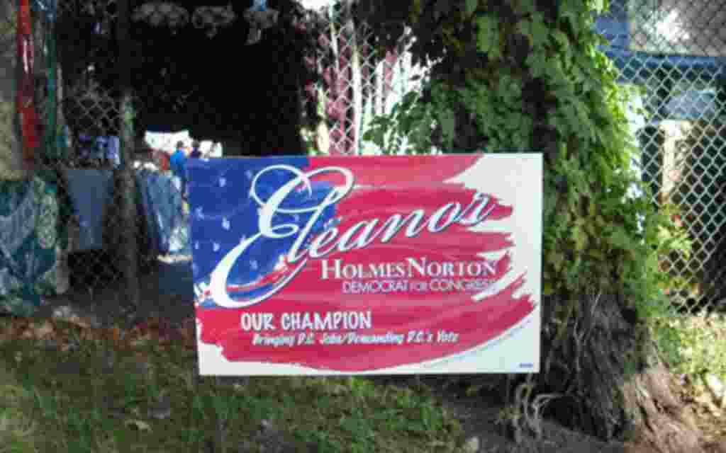 Anuncios electorales en la ciudad de Washington.