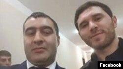 Cavid Hüseynov və vəkil Adəm Məmmədov (Foto Adəm Məmmədovun facebook səhifəsidəndir)