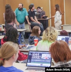 A meeting of the University of Alabama's anime club