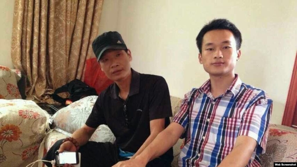 陳劍雄和友人在一起(網絡圖片)