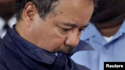 Ariel Castro appears in court for his initial appearance in Cleveland, Ohio, May 9, 2013. Castro, 52, a veteran school bus driver fired from his job last fall, was formally charged with kidnapping and raping the three women, who were rescued from his hous