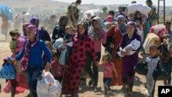 Warga Suriah yang mengungsi akibat konflik di wilayahnya (foto: ilustrasi).
