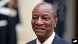 Alpha Condé, le président de la Guinée