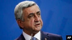 Rais wa Armenia, Serzh Sargsyan.