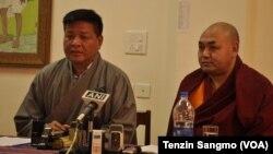 Speaker Penpa Tsering and Vice Speaker Khenpo Sonam