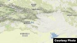 新疆巴音郭愣自治州地理位置图