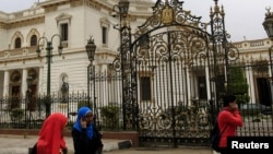 Trụ sở Quốc hội Ai Cập tại Cairo.