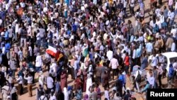 Waandamanaji wanaoipinga serikali ya Sudan