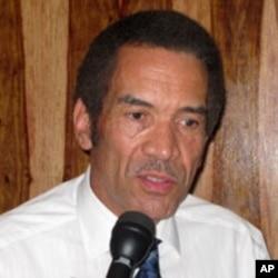 Botswana President Ian Khama