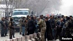 صحنه یک حمله انتحاری در کابل - فوریه ۲۰۱۵