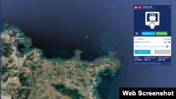 선박의 실시간 위치정보를 알려주는 '마린트래픽(MarineTraffic)'에 따르면, 안보리 제재 대상에 오른 북한 선박 '백마' 호가 30일 오후 7시 현재 중국 산둥성 지밍섬 주변 해상에 있는 것으로 확인된다.