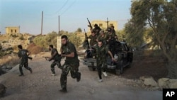 敘利亞境內反對派人士走上街頭