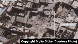 Hình ảnh vệ tinh cho thấy Aleppo bị tàn phá nặng nề sau các cuộc không kích.