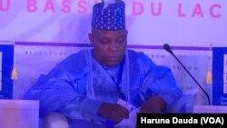 Gwamnan Jihar Borno Kashim Shettima wanda ya wakilci shugaban Najeriya wajen bude taron