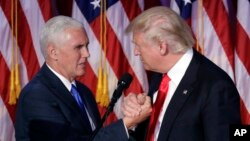 Tổng thống và Phó Tổng thống tân cử Donald Trump và Mike Pence.