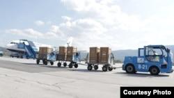 Respiratori nakon dostavljanja u Sarajevo. Izvor: Vlada Federacije