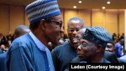 Shugaba Buhari da Obasanjo