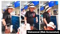"""Nữ đại úy công an Lê Thị Hiền """"đại náo"""" sân bay"""