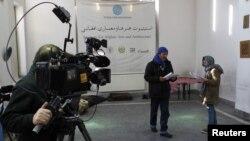아프가니스탄 방송 스튜디오. (자료사진)
