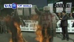 Biểu tình chống Bắc Triều Tiên ở Hàn Quốc (VOA60)