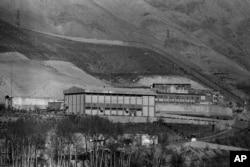 FILE - This Jan. 1987 photo shows Evin prison in Tehran, Iran.