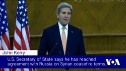 Kerry: 'Provisional' Deal Made With Moscow for Syria Cease-fire