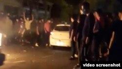 تصویری از تجمعات شب گذشته در تهران