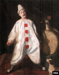 """""""Clown"""" by Károly Ferenczy. Oil on canvas. (Public domain in US)"""