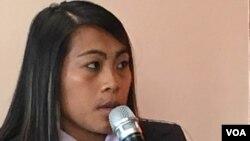 Minh Dang, người Mỹ gốc Việt nạn nhân của nạn buôn người khi mới lên 10 tuổi, hiện là thành viên của Hội đồng Tư vấn Mỹ chống buôn người (ảnh tư liệu).