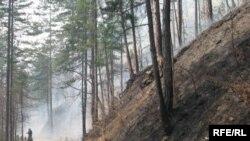 Požar u blizini Srebrenice