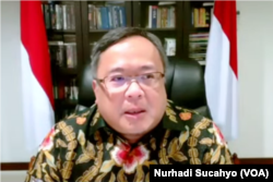 Menteri Riset dan Teknologi Kepala BRIN Prof. Bambang Permadi Soemantri Brodjonegoro. (Foto: VOA/Nurhadi Sucahyo)