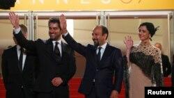 ترانه علیدوستی، اصغر فرهادی و شهاب حسینی در حاشیه جشنواره کن ۲۰۱۶