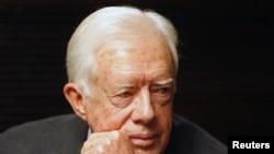 Arhiva - Bivši predsjednik SAD Džimi Karter tokom posjete Jerusalimu, 13. aprila 2008.