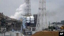 This handout picture shows the damaged third (L) and fourth reactors of the TEPCO Fukushima No.1 power plant in Fukushima, north of Tokyo, March 16, 2011