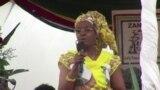 Umkamongameli uNkosikazi Grace Mugabe emhlanganweni weRally