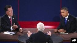 صدر اوباما اور مٹ رومنی آخری مباحثے میں آمنے سامنے