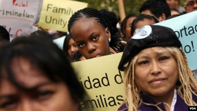 Demo pro-imigrasi di kota New York (foto: dok).