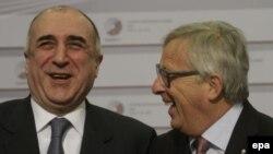 Elmar Məmmədyarov və Avropa Komissiyasının prezidenti Jean-Claude Juncker - Riqa, 22 may 2015