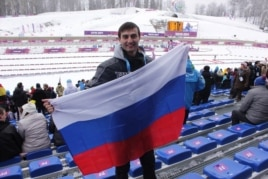 Alex Martynov at the Sochi Olympics (via Facebook)