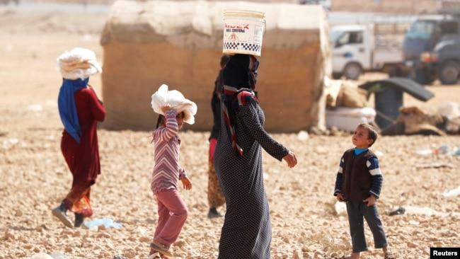 Situasi di pengungsian Ain Issa.