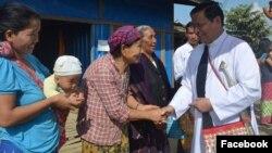 ကာဒီနယ္ခ်ားလ္စ္ဘို ကခ်င္ဒုကၡသည္ေတြကို ေတြ႔ဆံုအားေပး (Patrick Latt Sharr Ni)